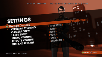 Saints Row Money Shot - Settings