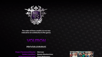 Saints Row The Third credits
