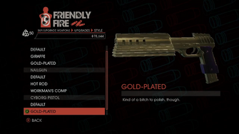 Weapon - SMGs - Rapid-Fire SMG - Cyborg Pistol - Gold-Plated