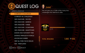 Gat out of Hell Challenge - Complete 5 Challenges