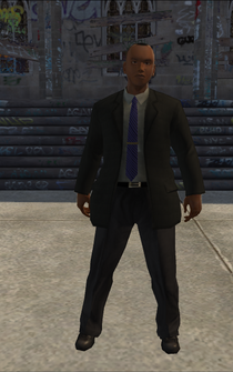 IRS - black - character model in Saints Row