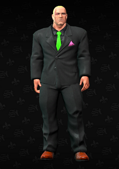 Killbane - black suit with no mask - character model in Saints Row The Third
