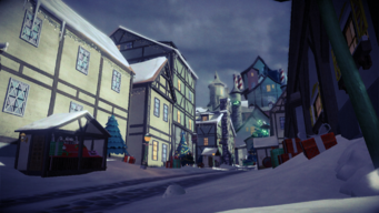 North Pole - wide view of street