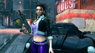 Shaundi - body with TEK Z-10 in Saints Row The Third