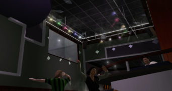 Stocks interior DJ booth and disco ball in Saints Row