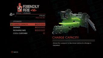 Weapon - Special - Lasergun Arm - Upgrades