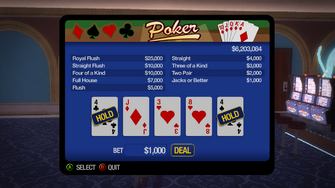 Poseidon's Palace - Poker Diversion with 1000 bet