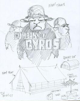 Company of Gyros Concept Art 01 - Logo & Tent
