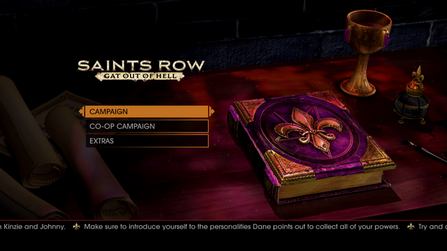 File:Gat out of Hell main menu - Make sure to introduce yoruself to the personalities Dane points out to collect all of your powers.png