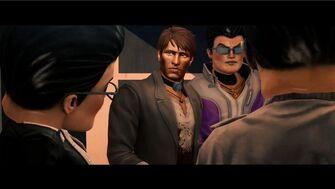 Josh Birk in When Good Heists Go Bad opening cutscene