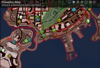 Map in Saints Row 2 - Docks & Warehouses - Poseidon Alley
