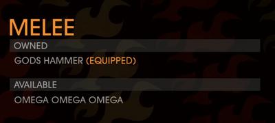 GOOH halloween livestream - Weapon - Melee - Omega Omega Omega