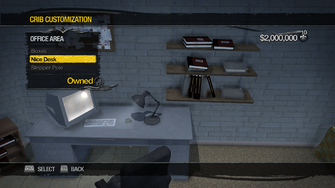 Red Light Loft - Crib Customization - Office Area - Nice Desk
