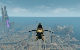 Scythe in jet mode - rear