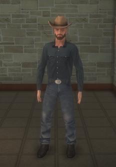 Cowboy - pudgy beard - character model in Saints Row 2