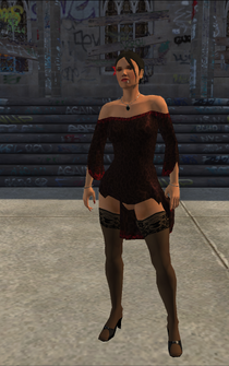 Luz - smoking - character model in Saints Row