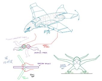 Screaming Eagle - Concept Art sketch of landing mode