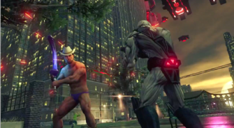 The Penetrator being used by Playa against a Zin solider in Saints Row IV