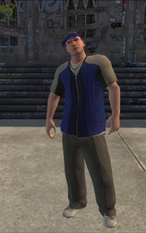 Westside Rollerz male Thug1-01 - white - character model in Saints Row
