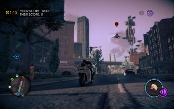 Cat and Mouse in Saints Row IV - Vulture chasing Kenshin