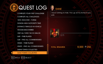 Gat out of Hell Challenge - Dane Tomes Collected