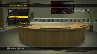 Saints Row Mega Condo - Crib Customization - Bar - Average Bar - Average Overall Style has no chairs