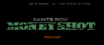 Saints Row Money Shot - alternate logo in earlier version