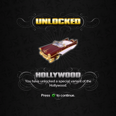 Saints Row unlockable - Vehicles - Hollywood