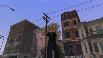 The Streets of Stilwater - background opposite crash scene out of cutscene
