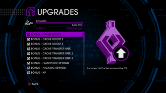 Upgrades menu in Saints Row IV - Page 1 of Bonuses