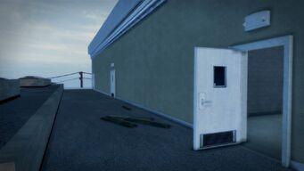 Developer offices - exterior rooftop entrance door
