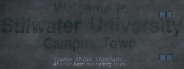 Frat Row - All your base are belong to us on building
