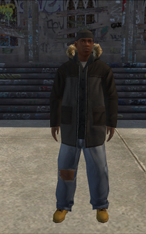 Hustler - black collar - character model in Saints Row