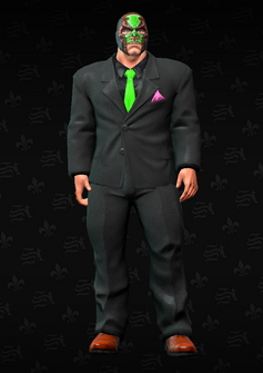 Killbane - black suit with mask - character model in Saints Row The Third