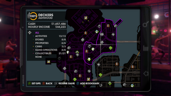 Map in Saints Row The Third