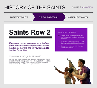 Saints Row website - History - The Saints Reborn