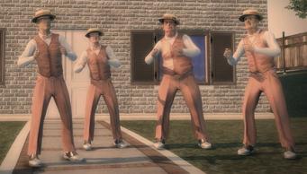 Action Node - barbershop quartet