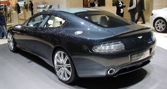 Blade - rear of Aston Martin Rapide 2010 in real life