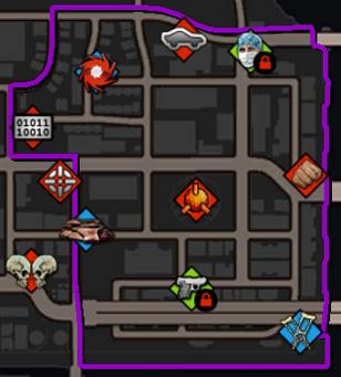 Bridgeport map in Saints Row IV
