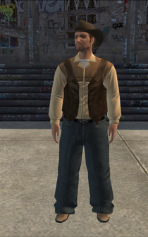 Cowboy - white-vest - character model in Saints Row