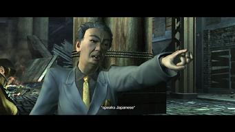 Kazuo Akuji speaking Japanese during Good D