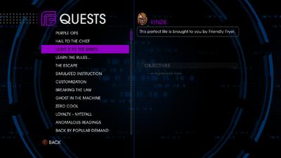 Quests menu - Leave it to the Saints