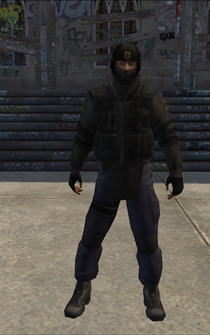 SWAT01-test - no pants attachments - character model in Saints Row