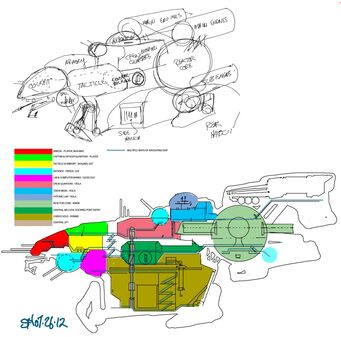 Crib Ship Concept Art - layout
