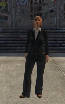Friendly Fire saleswoman in Meet McManus cutscene - character model in Saints Row