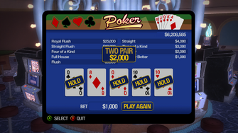 Poseidon's palace poker win