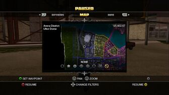 Arena District On The Map Without Markers - Saints Row