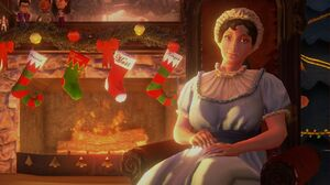 Jane Austen in Saints Save Christmas