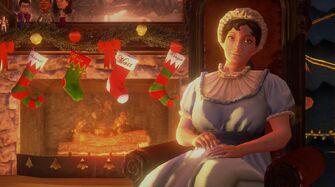Jane Austen in Saints Save Christmas