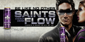 Planet Saints billboard saintsflow d